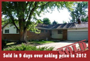 3  Sold in 9 days over asking price in 2012 housing market