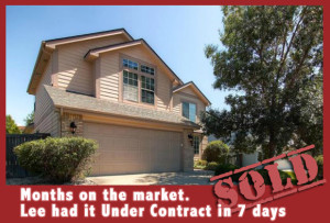 4 Months on the market, Lee had it Under Contract in 7 days